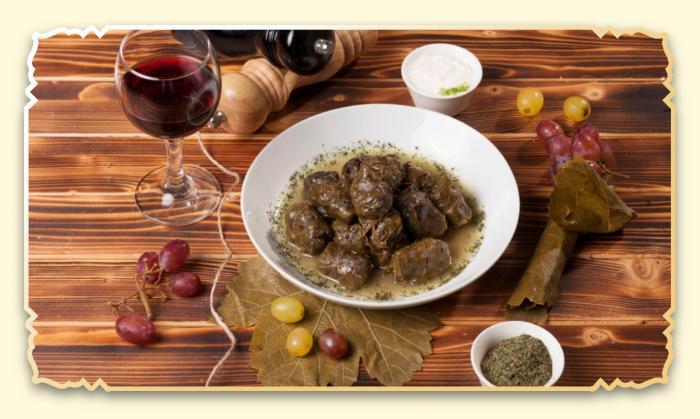 Долма из виноградных листьев - Ресторан Восточная сказка - Восточная кухня в Миассе