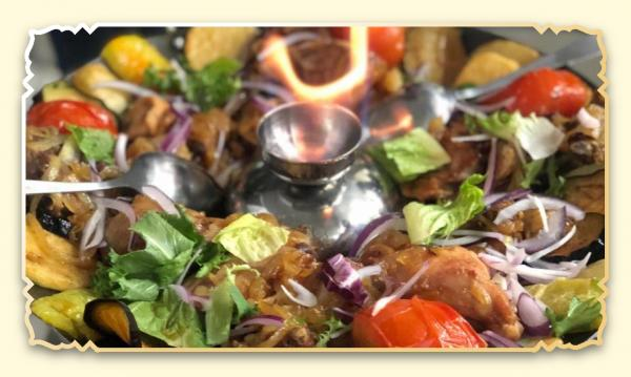 Садж из мяса курицы и овощей - Ресторан Восточная сказка - Восточная кухня в Миассе