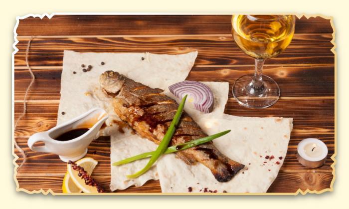 Форель речная - Ресторан Восточная сказка - Восточная кухня в Миассе
