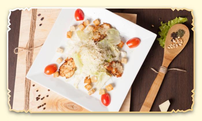 Цезарь с куриным филе - Ресторан Восточная сказка - Восточная кухня в Миассе