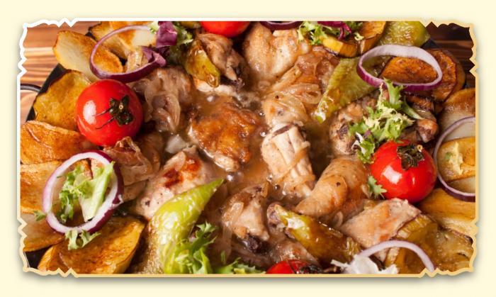 """Садж """"Ассорти из мяса и овощей"""" - Ресторан Восточная сказка - Восточная кухня в Миассе"""