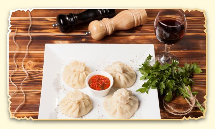 Хинкали по-грузински - Ресторан Восточная сказка - Восточная кухня в Миассе