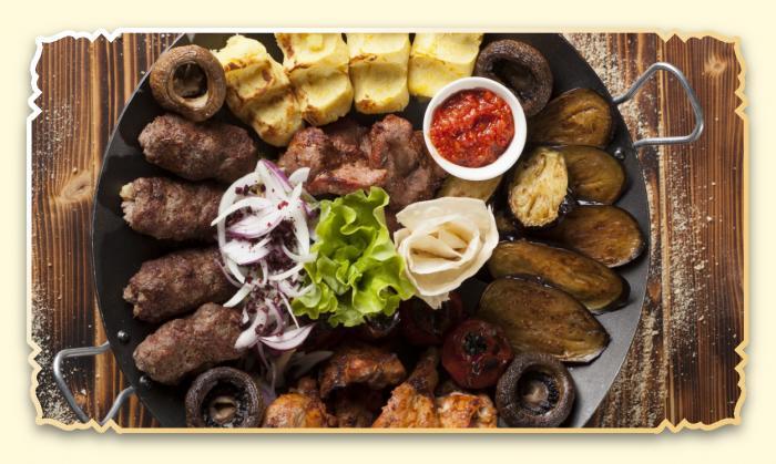 """Садж """"Ассорти из шашлыка"""" - Ресторан Восточная сказка - Восточная кухня в Миассе"""