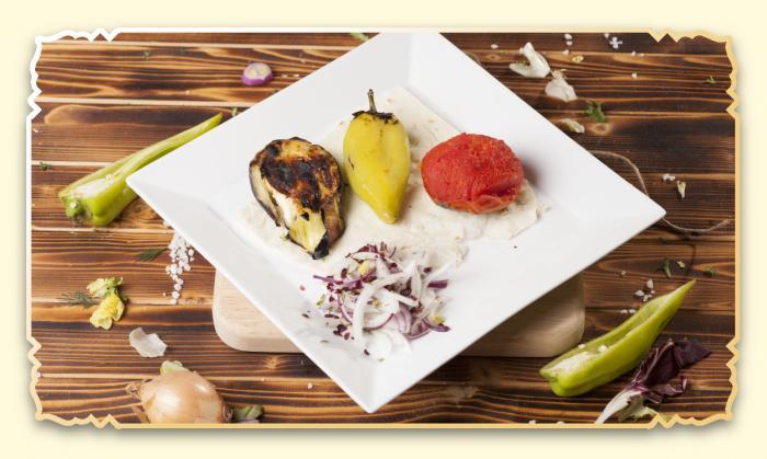 Овощи, приготовленные на углях - Ресторан Восточная сказка - Восточная кухня в Миассе