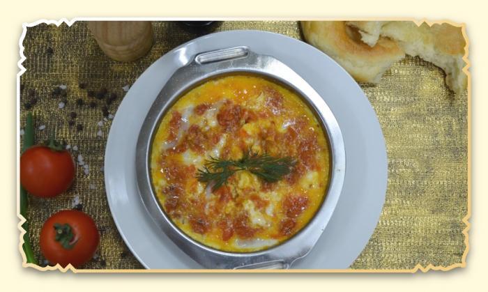 Омлет с помидорами - Ресторан Восточная сказка - Восточная кухня в Миассе