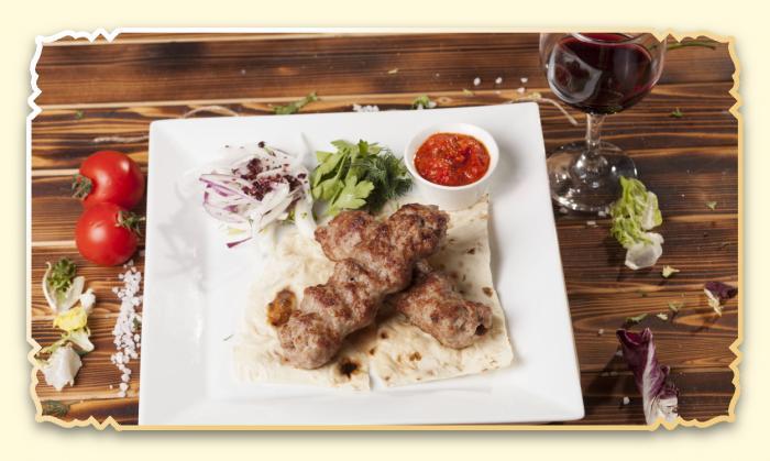 Люля-кебаб из свинины - Ресторан Восточная сказка - Восточная кухня в Миассе