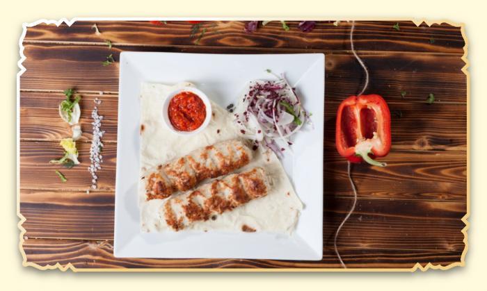 Люля кебаб из курицы - Ресторан Восточная сказка - Восточная кухня в Миассе