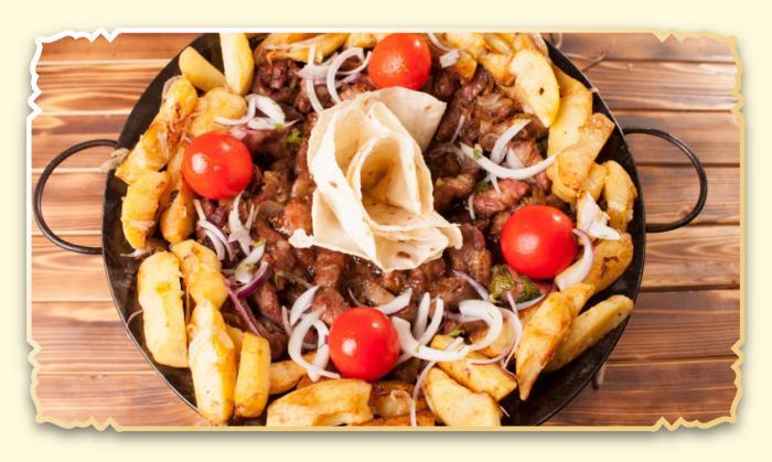 Садж из телячьей вырезки и картофеля - Ресторан Восточная сказка - Восточная кухня в Миассе