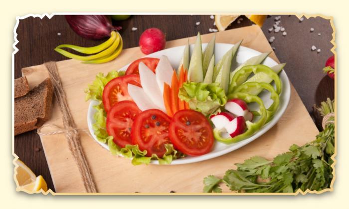 Овощное ассорти - Ресторан Восточная сказка - Восточная кухня в Миассе
