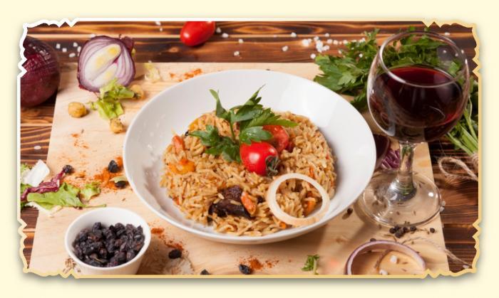Плов по-узбекски - Ресторан Восточная сказка - Восточная кухня в Миассе