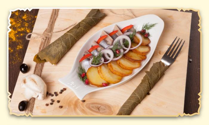 Сельдь традиционная - Ресторан Восточная сказка - Восточная кухня в Миассе