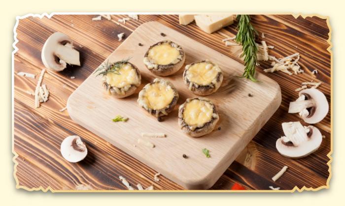 Шампиньоны, запеченные с сыром - Ресторан Восточная сказка - Восточная кухня в Миассе