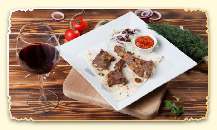Шашлык из бараньей корейки - Ресторан Восточная сказка - Восточная кухня в Миассе