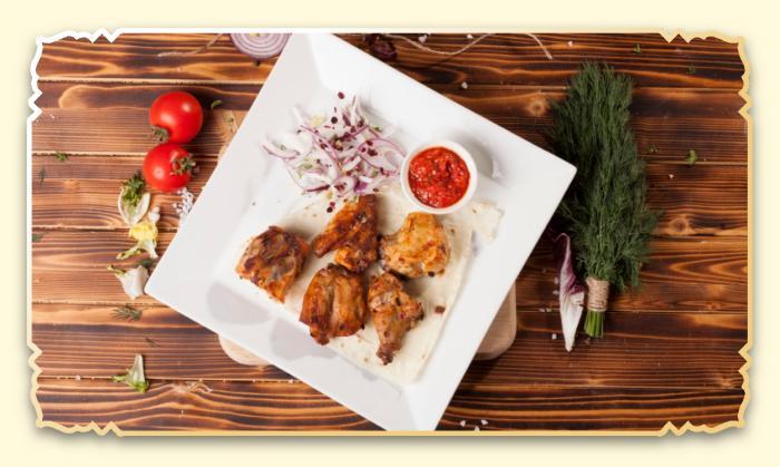 Шашлык из мяса курицы - Ресторан Восточная сказка - Восточная кухня в Миассе