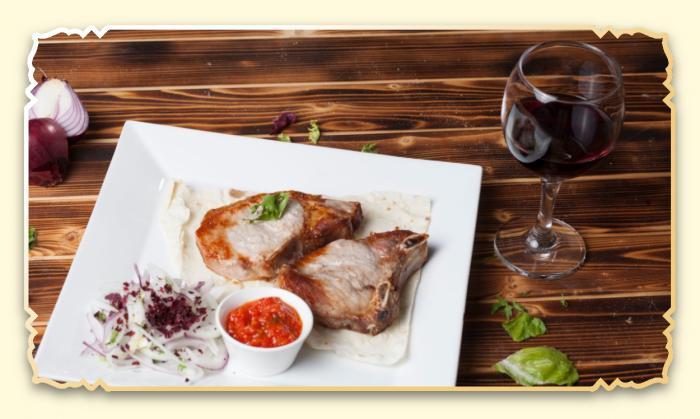 Шашлык из свиной корейки - Ресторан Восточная сказка - Восточная кухня в Миассе