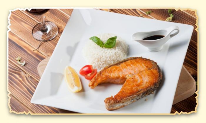 Стейк из сёмги - Ресторан Восточная сказка - Восточная кухня в Миассе