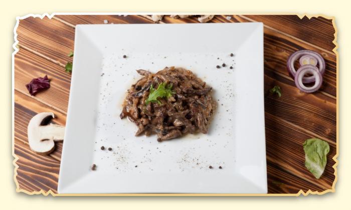 Вырезка по-строгановски - Ресторан Восточная сказка - Восточная кухня в Миассе