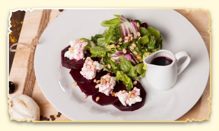 Салат из свеклы с сыром - Ресторан Восточная сказка - Восточная кухня в Миассе