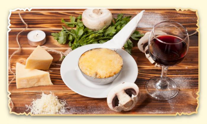 Жульен с грибами - Ресторан Восточная сказка - Восточная кухня в Миассе
